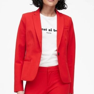 BANANA REPUBLIC Red Classic-Fit Washable Blazer